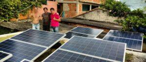 usina de energia solar em favela no rio