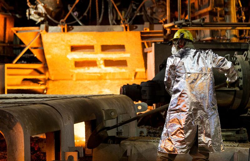 Produção, aço, aço bruto