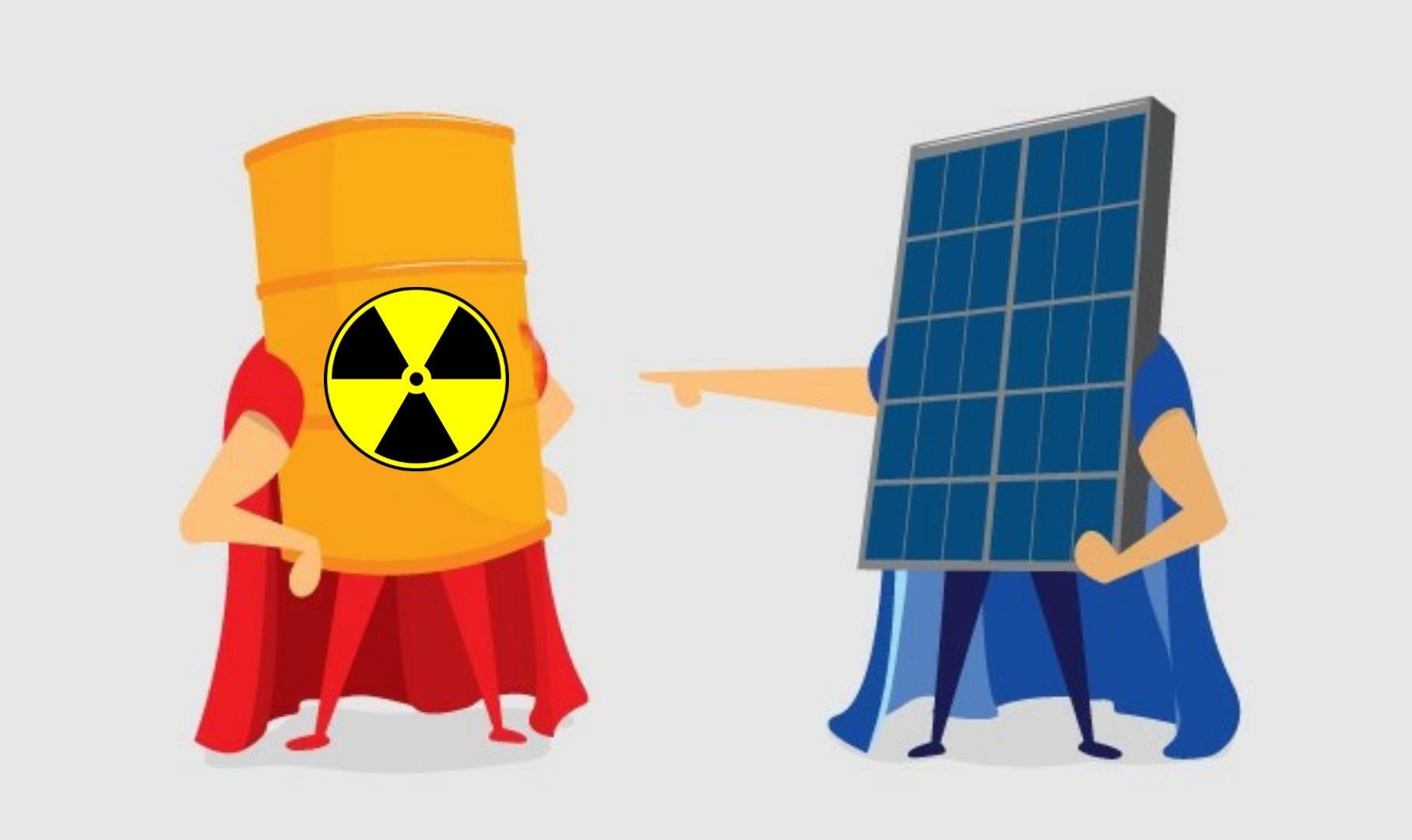 energia nuclear - energia solar