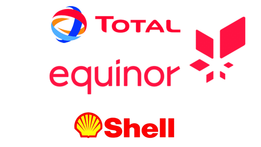 Equinor Shell Total co2