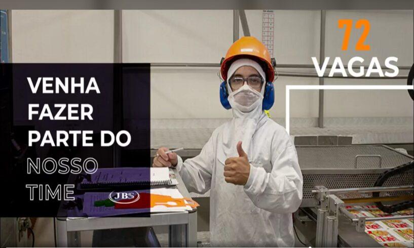 JBS, a maior processadora de carne no mundo, convoca para 72 vagas de ensino fundamental, médio e superior em Itajaí, RJ, SP, MS e RO