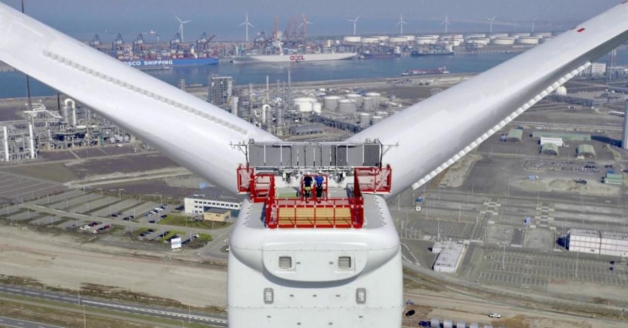 Turbina - energia eólica - offshore