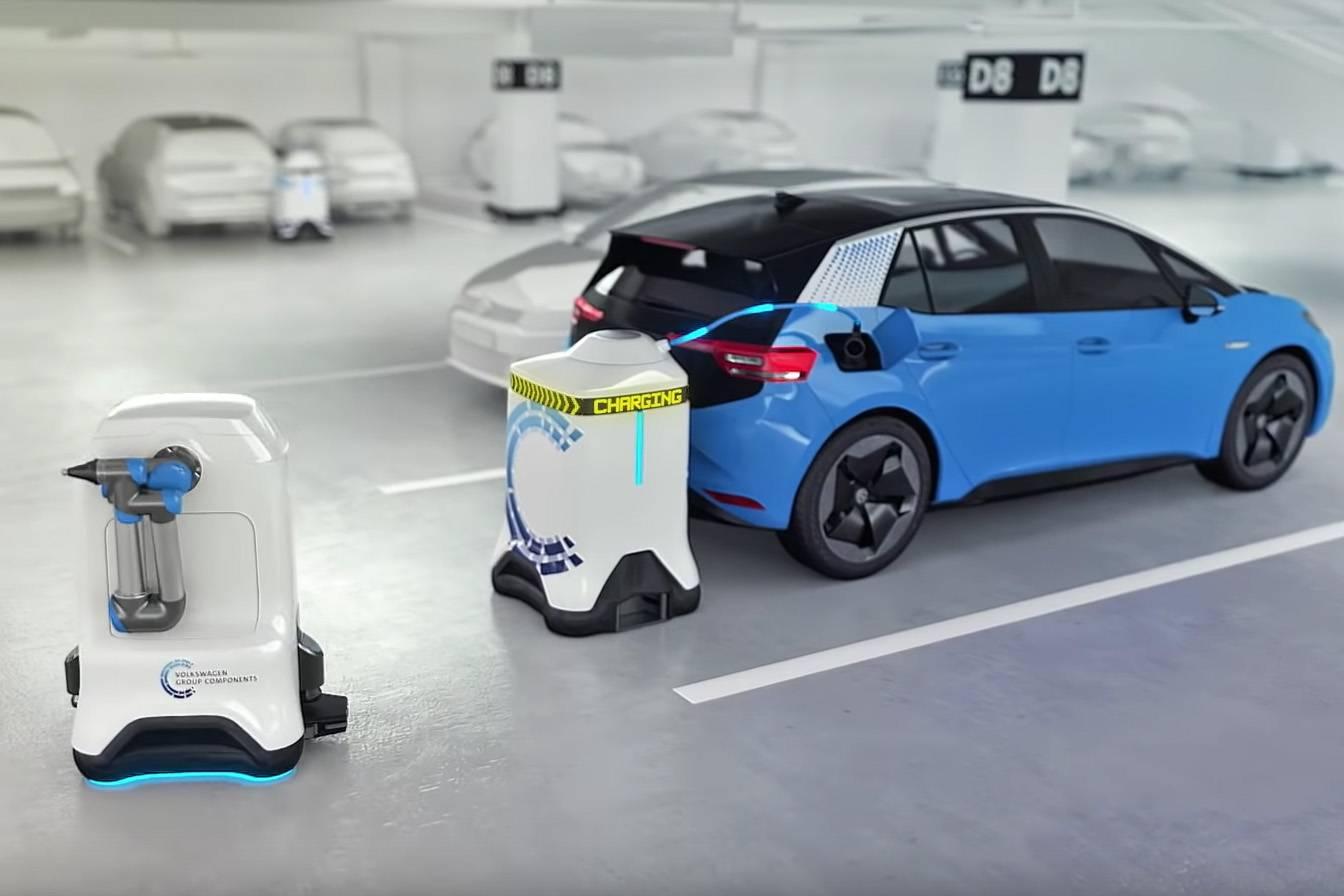 Robô - carros elétricos - Volkswagen