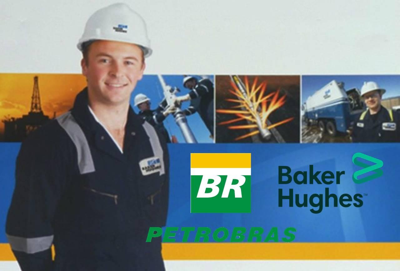 Funcionário da Baker com logo da Petrobras ao lado
