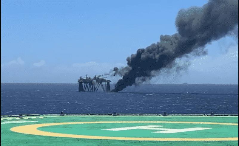 Plataforma P-65 Trident Energy chamas Bacia de Campos incidente