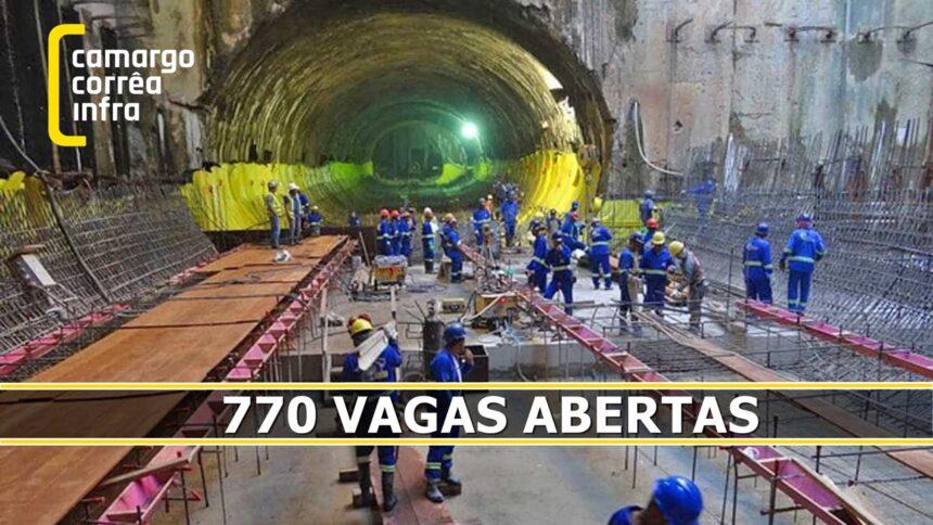 Camargo Corrêa - construtora - construção civil - emprego - Minas Gerais