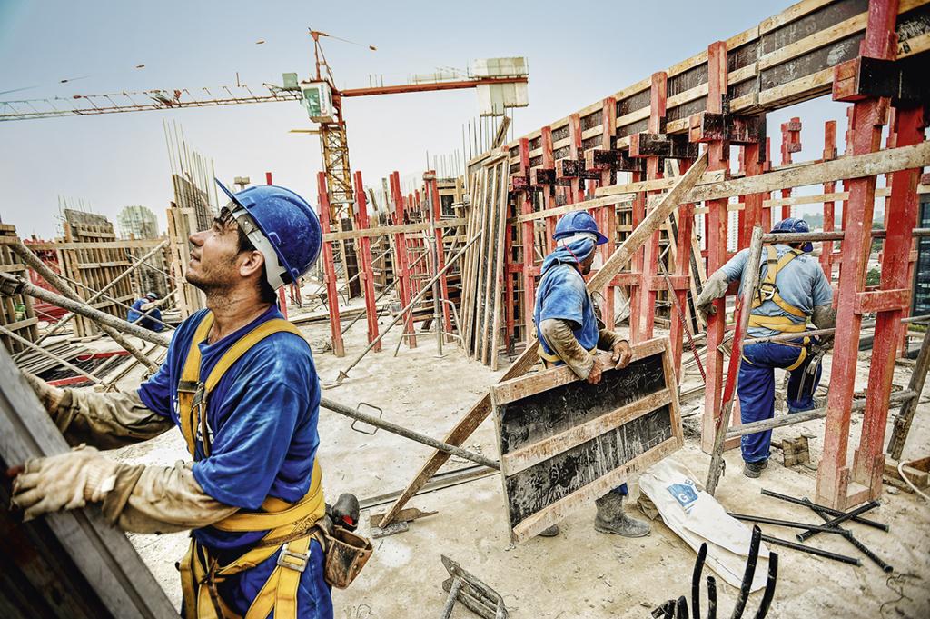 Construção civil, indústrias