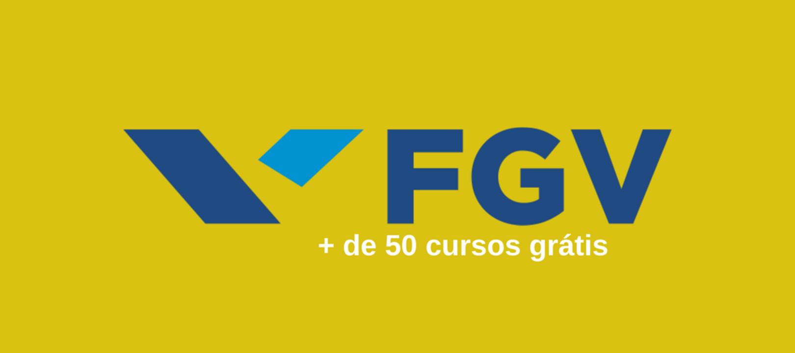 FGV - vagas - cursos gratuitos online