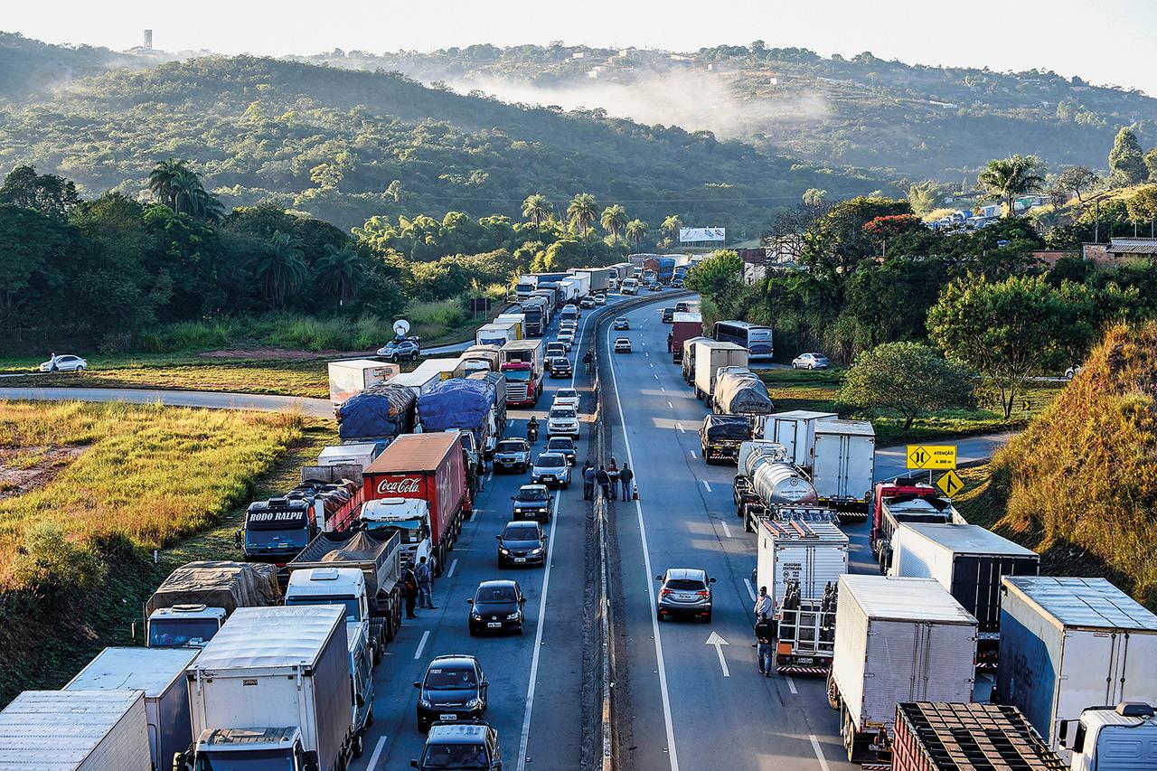 Greve - caminhoneiros - trânsito