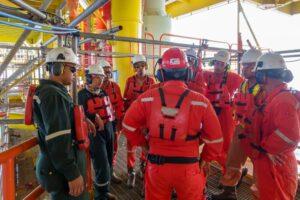 Perfuração, offshore, emprego