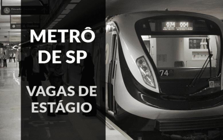 Vagas - estágio - Metrô de SP