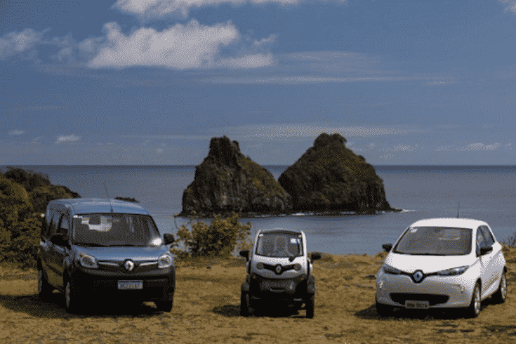 Governo - carros elétricos - Fernando de Noronha