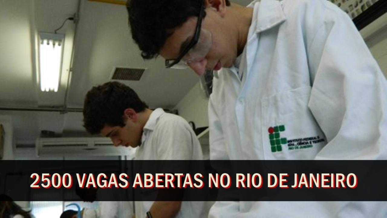 IFRJ - cursos técnicos gratuitos - rio de janeiro