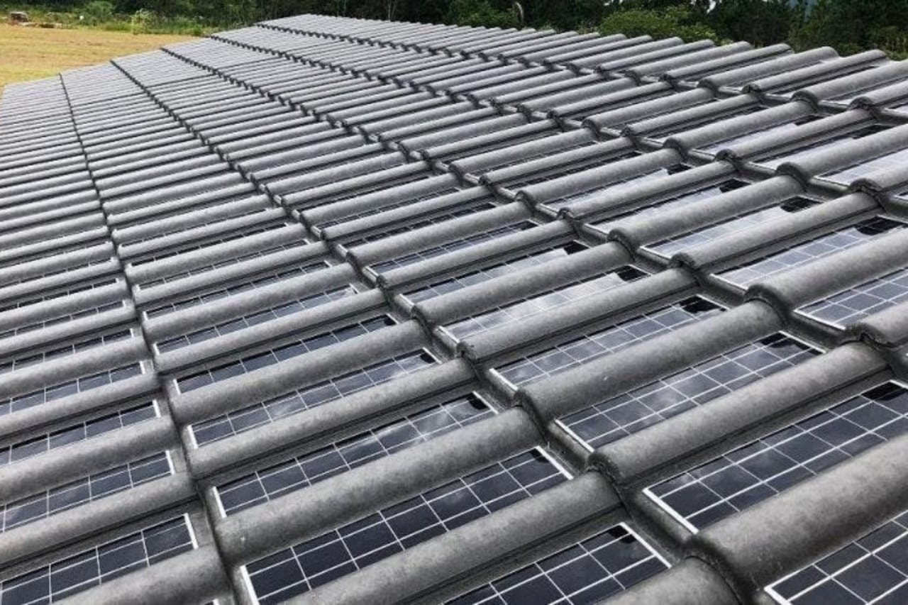 Telhas solares - energia solar - Eternit