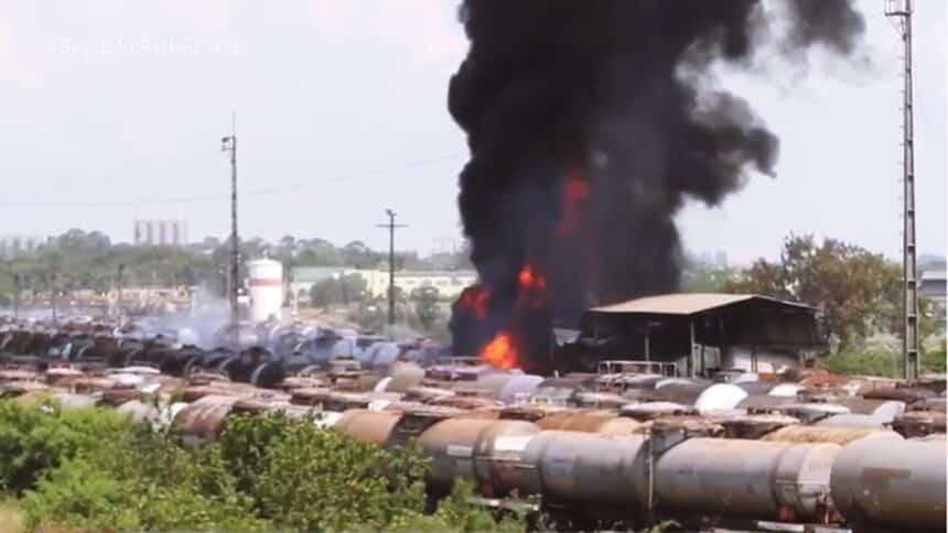 incêndio - refinaria - petrobras - combustível - paulínea - rumo