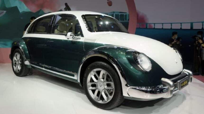 China - carro elétrico -Fusca - Volkswagen