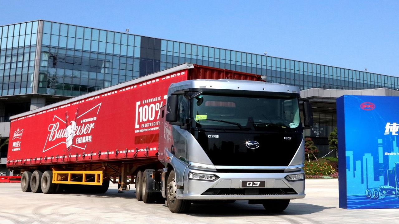 BYD - chinesa - caminhões - Budweiser