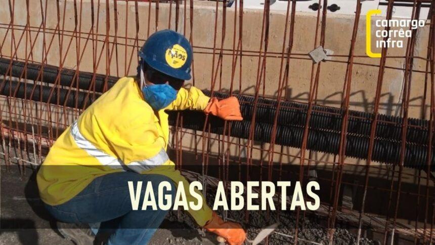 camargo corrêa - vagas - emprego - construção civil - infraestrutura - são paulo - santa catarina
