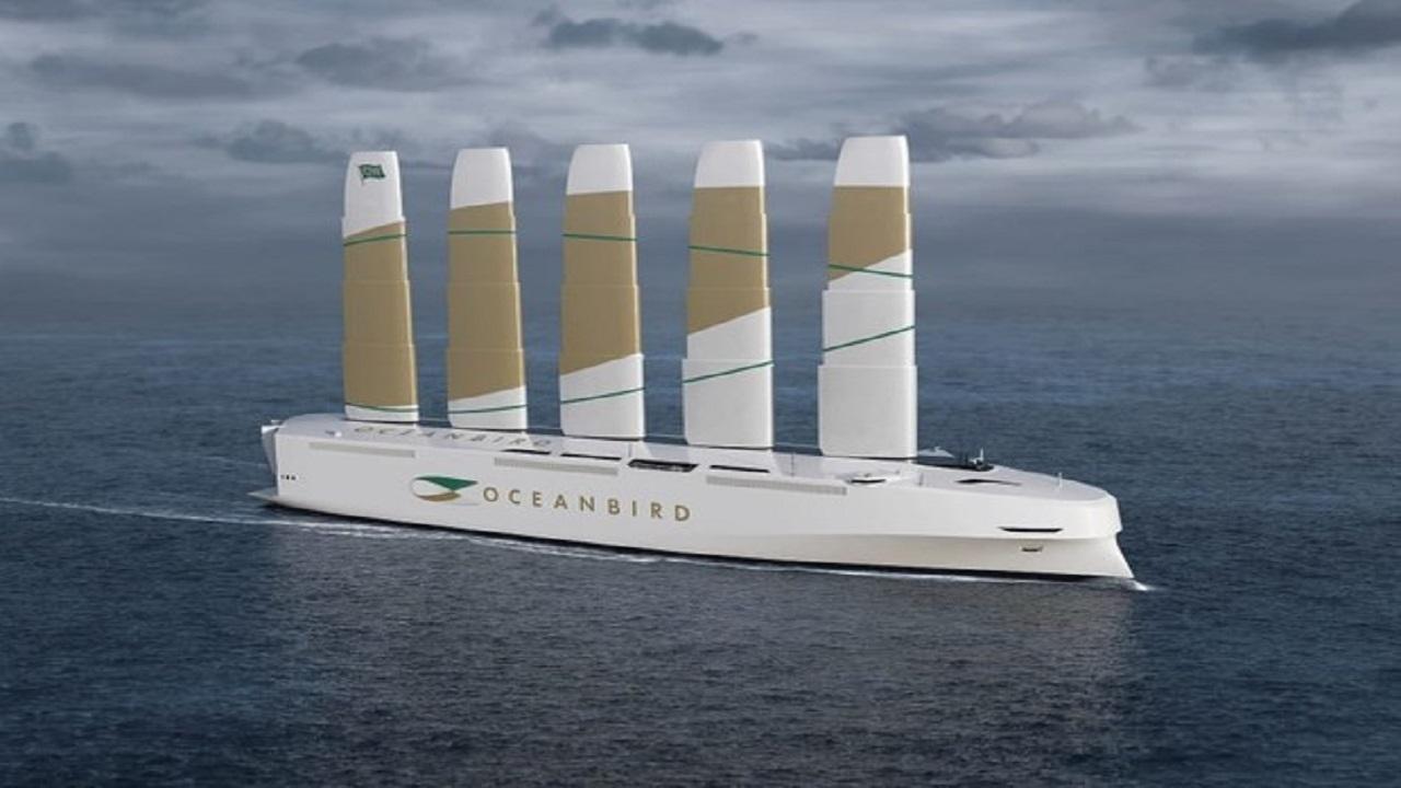 energia eólica -navios - alto mar