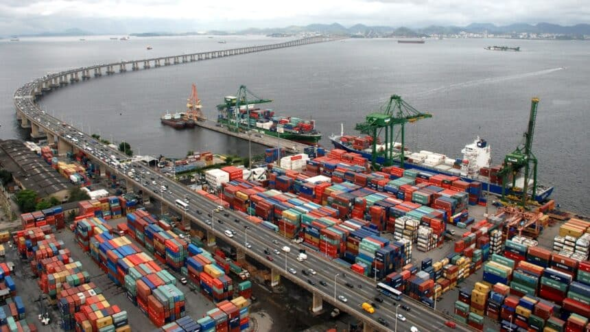 porto - obra - empregos - rj - caminhões - infraestrutura - av. brasil - tarcísio freitas