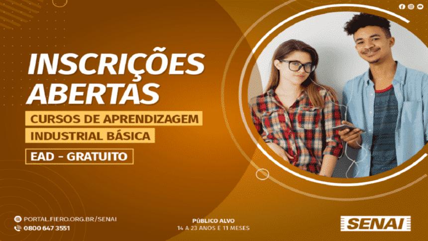 Cursos gratuitos -EAD - Senai - vagas - Rondônia