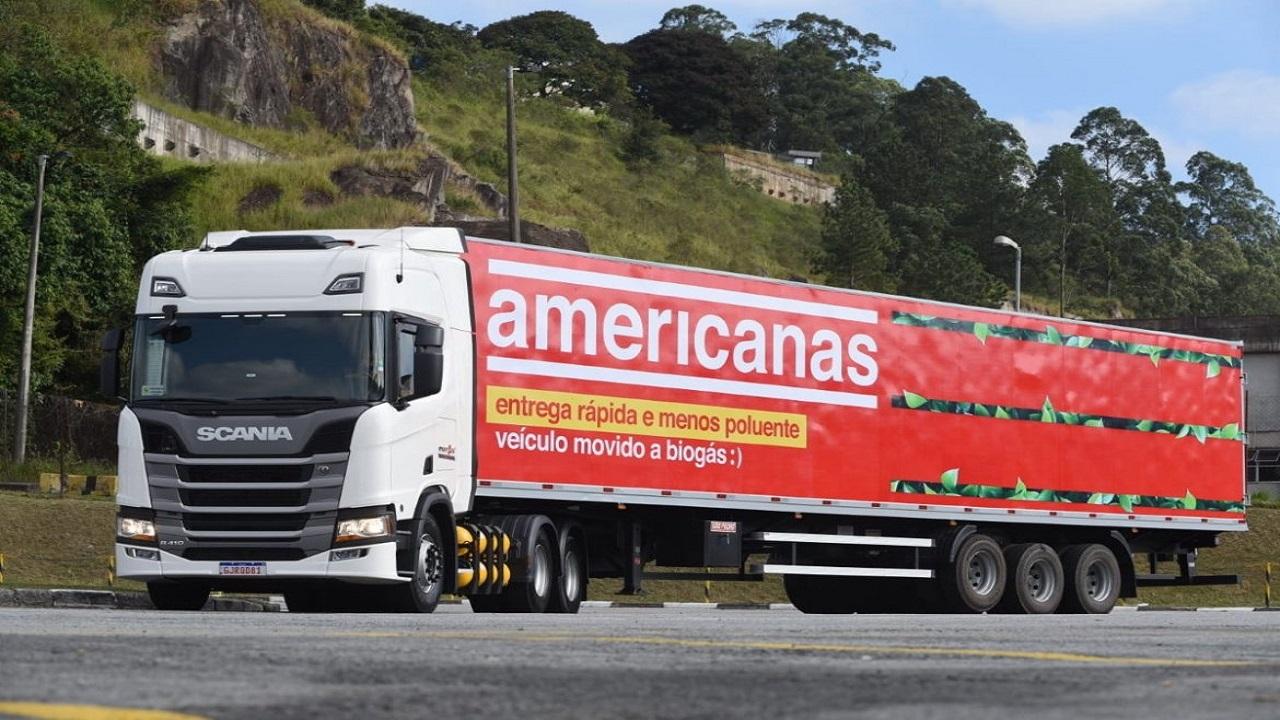 B2W - Americanas -GNV - Biometano - caminhões