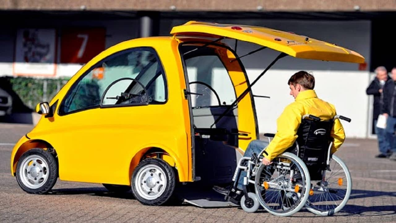 Carro elétrico - cadeirante - assento