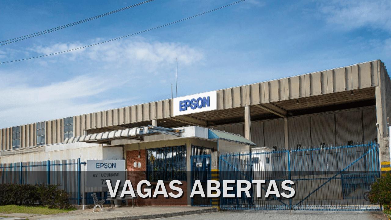 Epson - impressora - vagas - prjetores - scanner - fábrica - são paulo - estágio