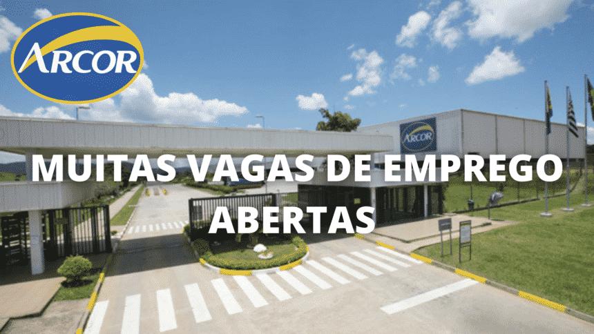 emprego – São Paulo – Minas Gerais - Arcor