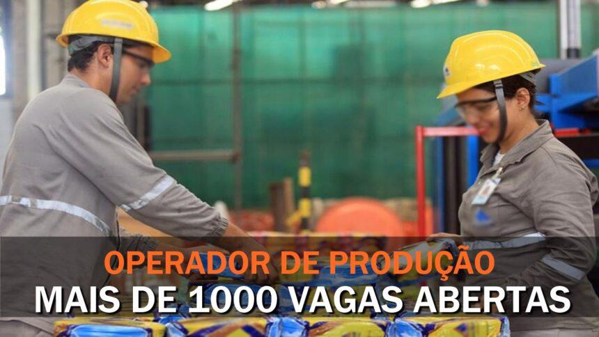 Emprego - operador de produção - ensino fundamental - ensino médio - vagas - sp - rj - mg