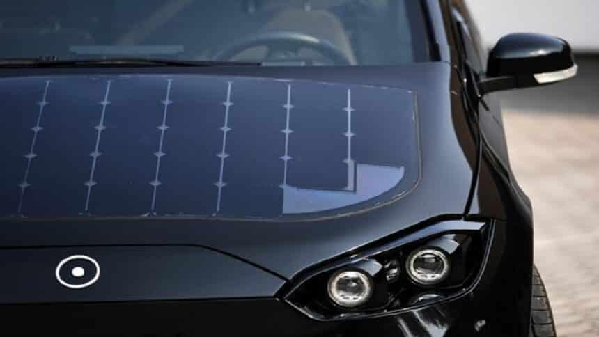 carro elétrico - energia solar - bateria