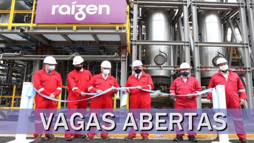 emprego - Raízen - etanol - usinas - vagas - são paulo - sem experiência - manutenção - produção