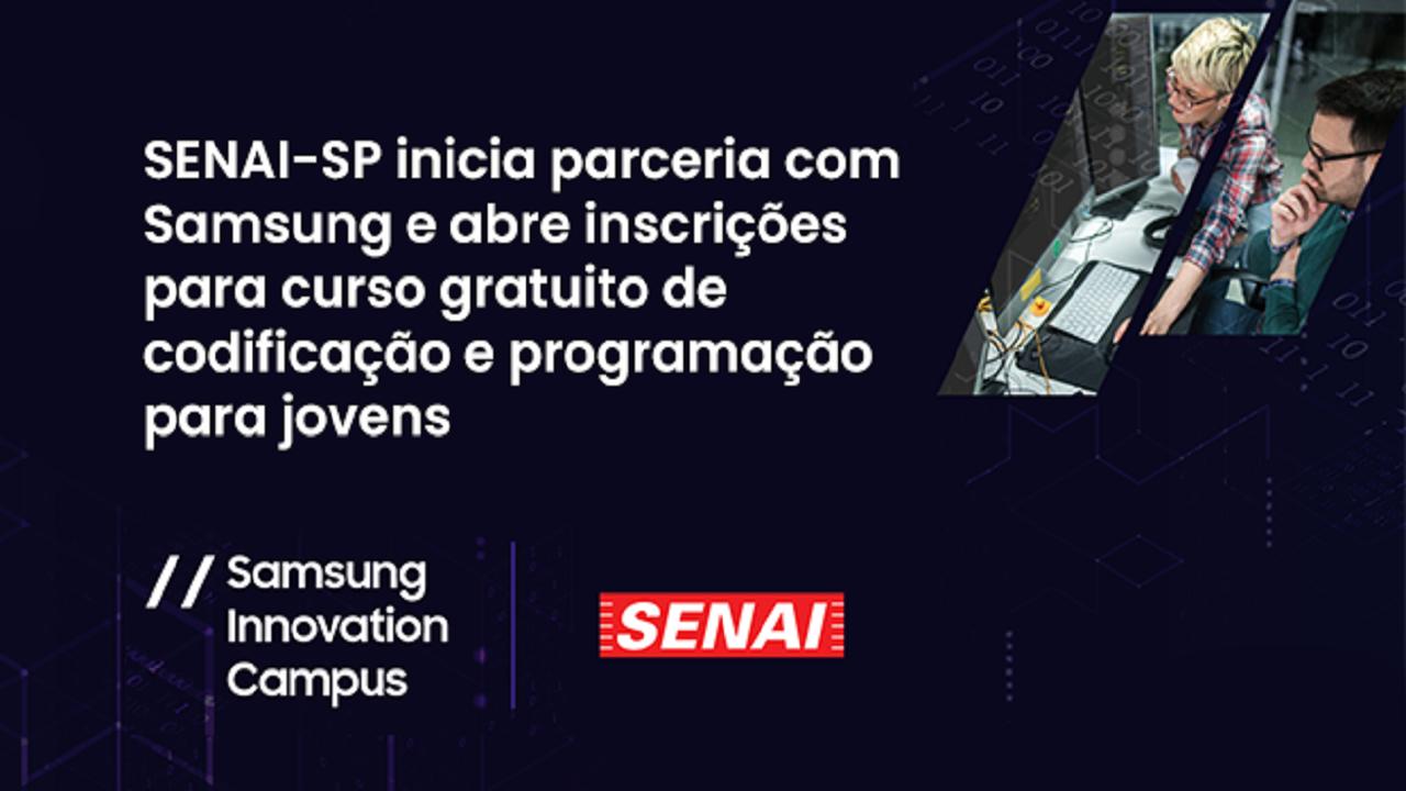 Samsung - Senai - SP - cursos gratuitos -EAD