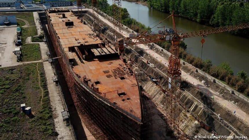 navio - titanic - china - construção