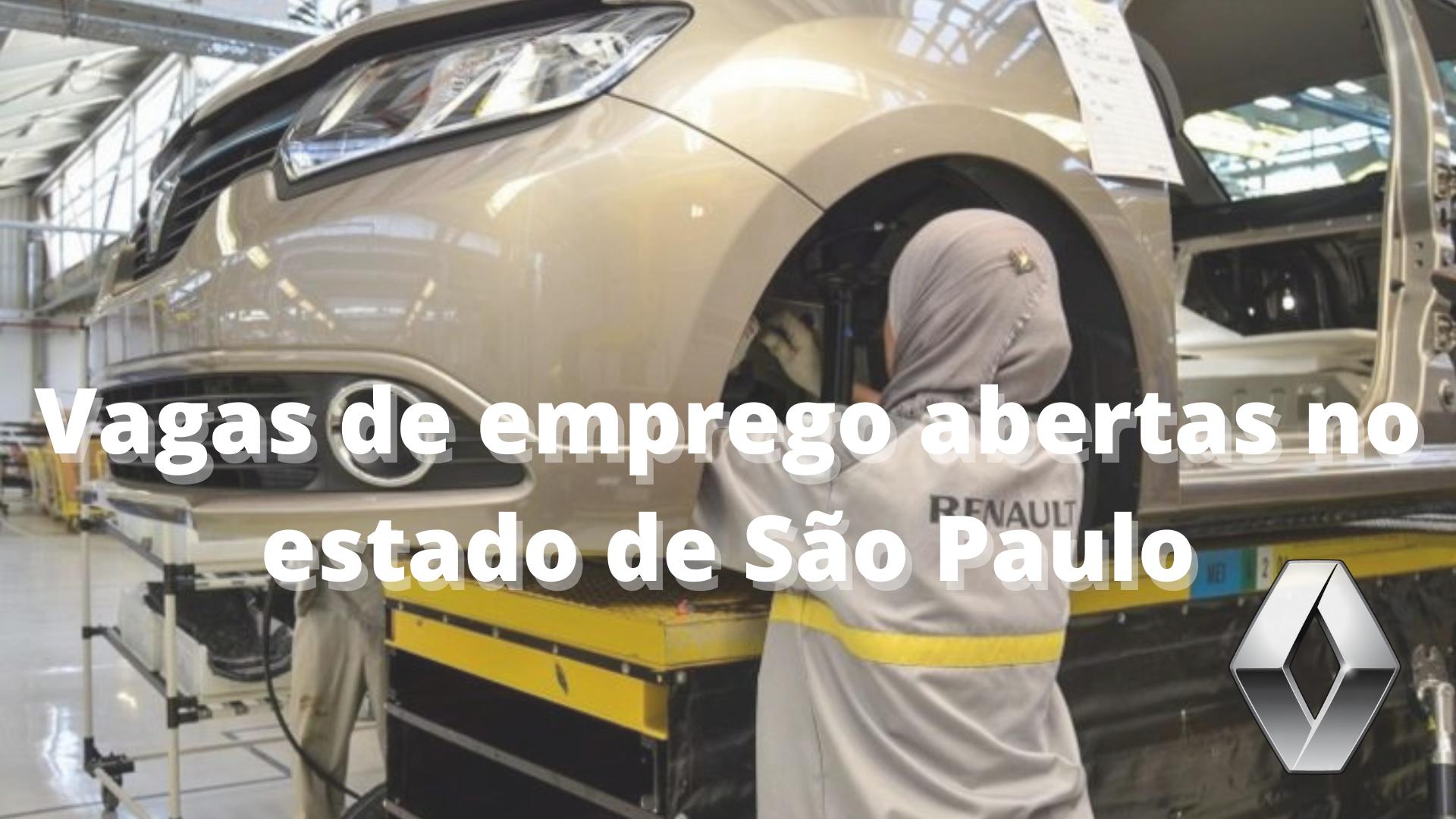 Renault – emprego – São Paulo