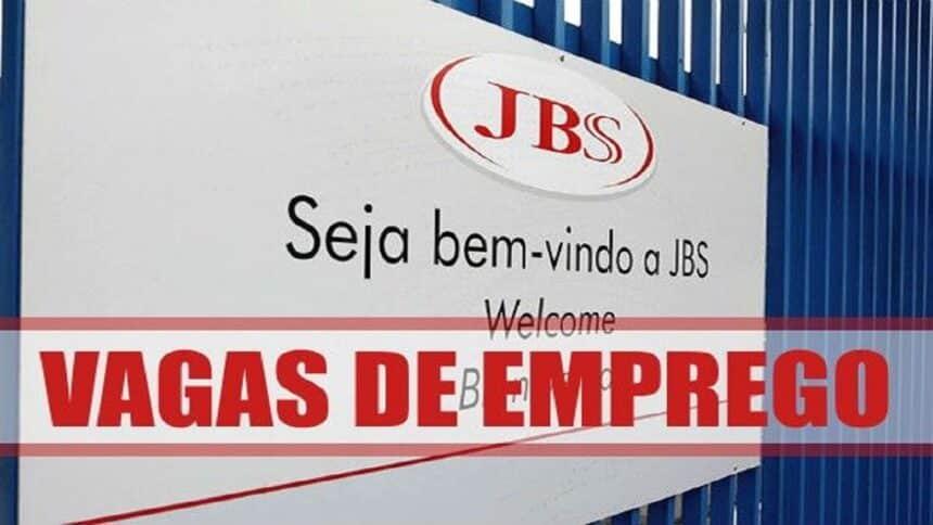 JBS - vagas de emprego - multinacional - ensino médio - mato grosso do sul