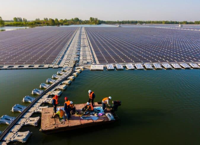 energia solar - energia limpa -energia renovável - meio ambiente -energia solar flutuante