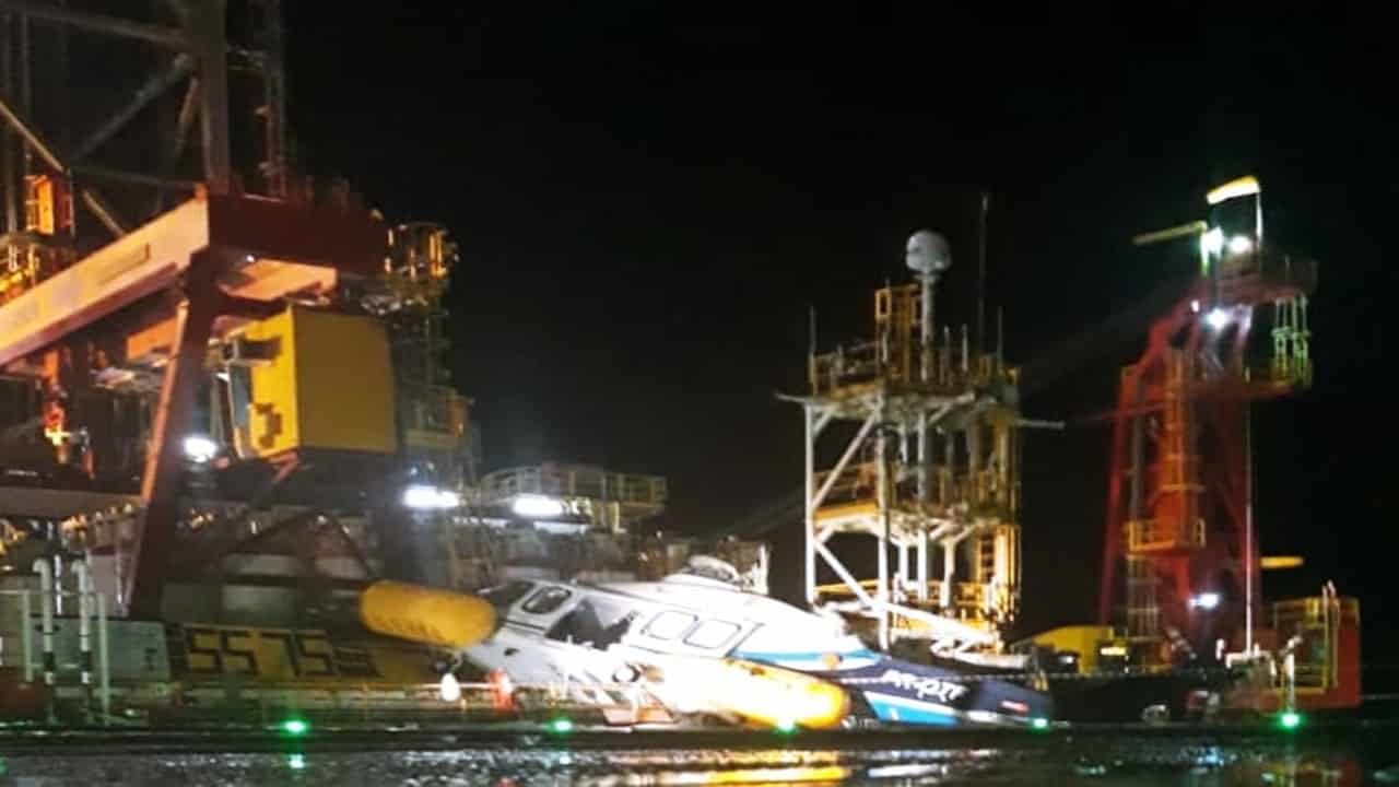 plataforma - acidente - petrobras - diamond offshore - helicóptero - Omni - bacia de santos - feridos - trabalhadores - petroleiros