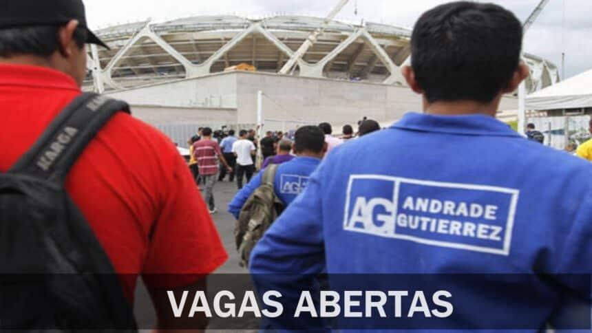Andrade Gutierrez - construtora - construção civil - emprego - Minas Gerais - são paulo - bahia - república dominicana - mato grosso - técnico -