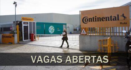 Continental - emprego - pneus - peças - fábrica - vagas - SP - BA