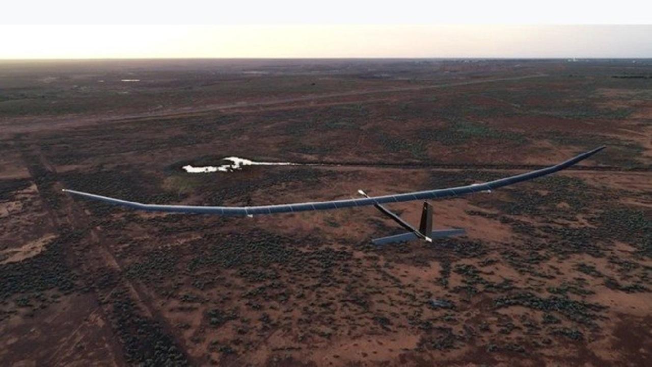 Drone - energia solar - altura