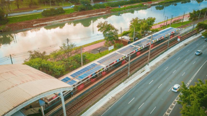Energia solar – estação de trem – São Paulo