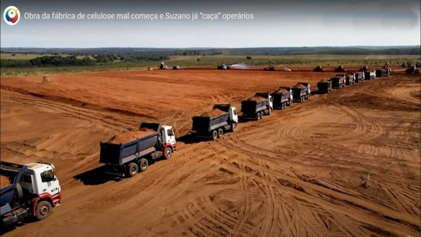 fábrica de celulose - Suzano - vagas de emprego - MS - preço - mão de obra - construção
