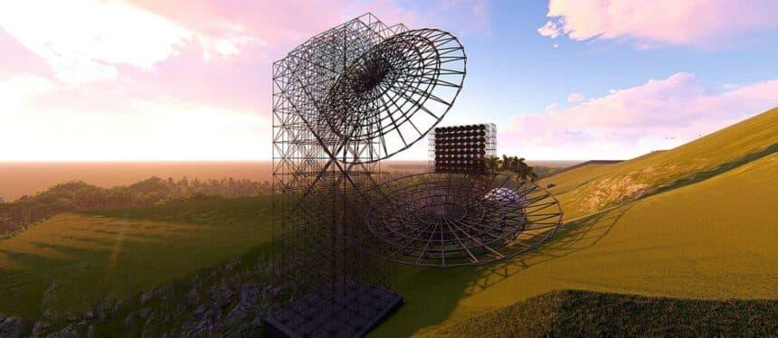 construção – Paraíba - radiotelescópio
