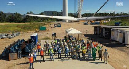 turbina - WEG - ENGIE - energia eólica - aerogerador - motor - transformador - emprego - sc