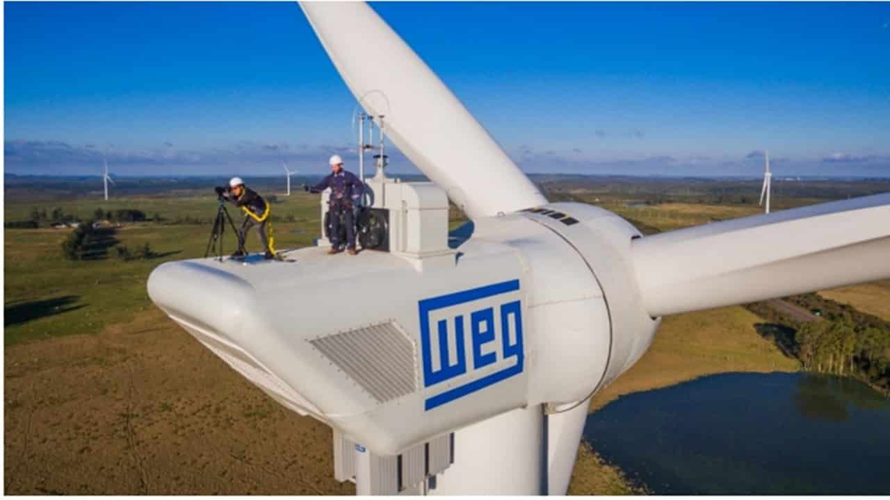 aerogerador - WEG - motor elétrico - transformador