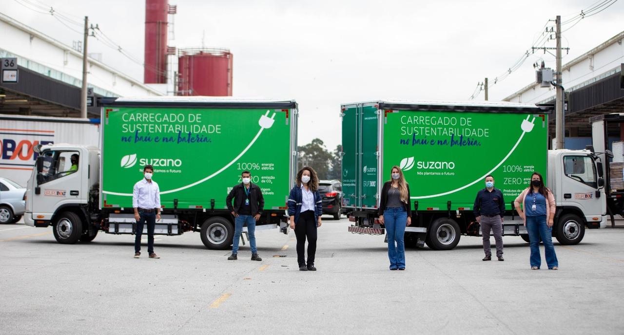 Suzano caminhões elétricos - energia