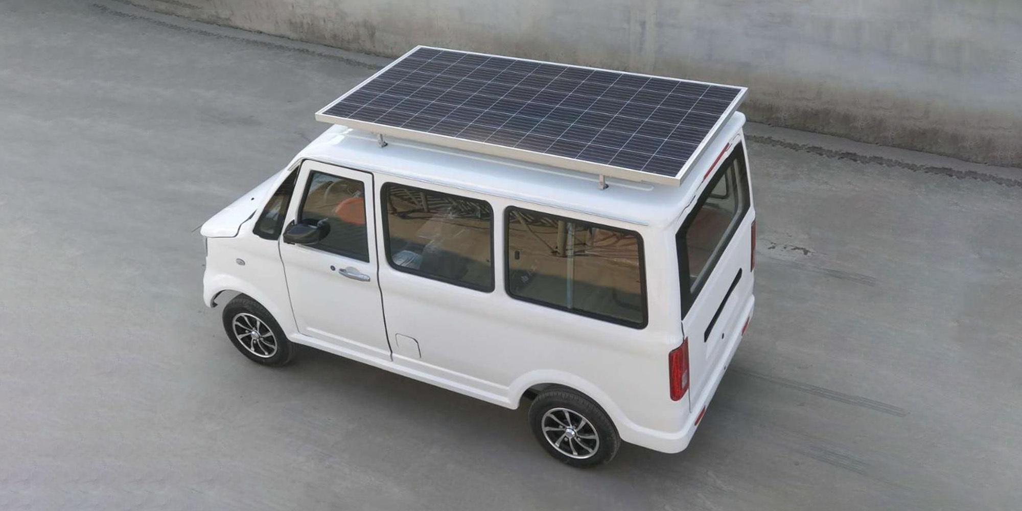 energia solar - energia limpa - mini van - ford -mercedes benz - painel solar