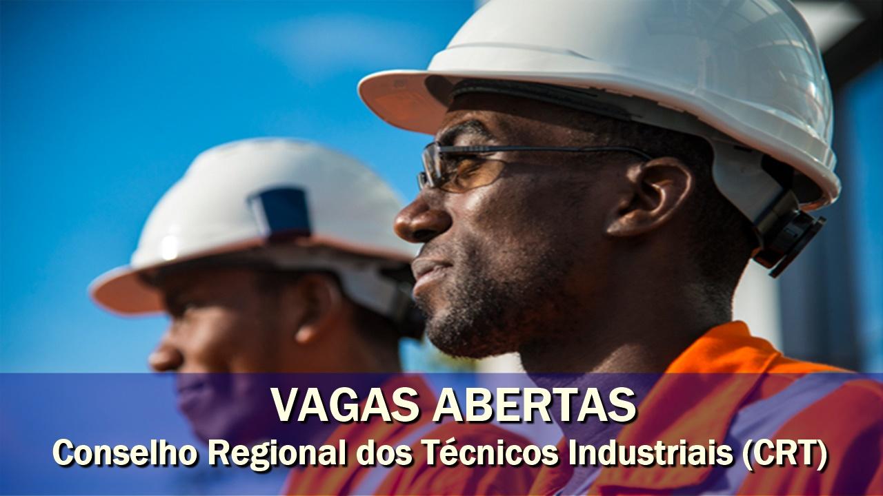 emprego - técnicos - ensino médio - CRT - Conselho Regional dos Técnicos Industriais - manutenção