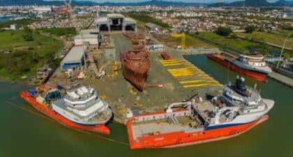 Construção – navios – Marinha – Santa Catarina